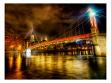 The River that Ran Through Lyon at Midnight Premium Photographic Print by Trey Ratcliff