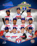 MLB Texas Rangers 2011 American League Champions Composite Photo
