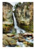 A cool waterfall to relax at during the hike Premium Photographic Print by Trey Ratcliff