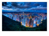 The Megopolis Hong Kong - What Happens Around Dusk Premium Photographic Print by Trey Ratcliff