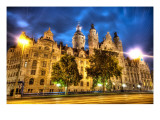 Leipzig at Night Premium Photographic Print by Trey Ratcliff