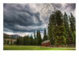 The Storm Hitting the Barn Premium Photographic Print by Trey Ratcliff