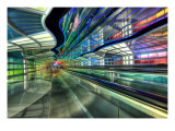 The Underground Peoplemover to the International Terminal Premium Photographic Print by Trey Ratcliff