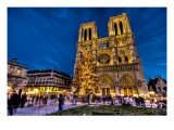 Merry Christmas from Notre Dame Premium Photographic Print by Trey Ratcliff