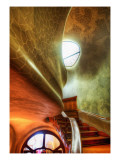 The Myst Staircase Premium Photographic Print by Trey Ratcliff