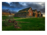The Grassy Roof in the Central Icelandic Farms Premium Photographic Print by Trey Ratcliff