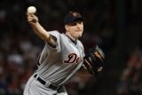 Detroit Tigers v Texas Rangers - Playoffs Game Six, Arlington, TX - October 15: Max Scherzer Photographic Print by Harry How