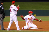 2011 World Series Game 6 - Texas Rangers v St Louis Cardinals, St Louis, MO - Oct. 27: David Freese Photographie par Ezra Shaw