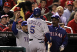 Texas Rangers v St Louis Cardinals, St Louis, MO - Oct. 27: Ian Kinsler and Ron Washington Photographic Print by Jamie Squire