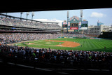 Texas Rangers v Detroit Tigers - Playoffs Game Five, Detroit, MI - October 13 Photographic Print by Kevork Djansezian