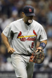 St Louis Cardinals v Milwaukee Brewers - Game Six, Milwaukee, WI - October 16: Albert Pujols Photographic Print by Christian Petersen