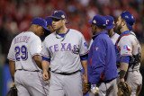 Texas Rangers v St Louis Cardinals, St Louis, MO - Oct. 27: Colby Lewis and Ron Washington Photographic Print by Ezra Shaw