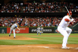2011 World Series Game 6 - Texas Rangers v St Louis Cardinals, St Louis, MO - Oct. 27: Colby Lewis Fotografie-Druck von Pool .