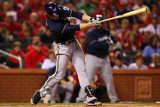 Milwaukee Brewers v St Louis Cardinals - Playoffs Game Five, St Louis, MO - October 14: Ryan Braun Photographic Print by Dilip Vishwanat