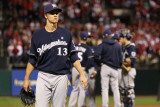 Milwaukee Brewers v St Louis Cardinals - Game Five, St Louis, MO - October 14: Zack Greinke Photographic Print by Jamie Squire