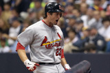 St Louis Cardinals v Milwaukee Brewers - Game Six, Milwaukee, WI - October 16: David Freese Photographic Print by Christian Petersen