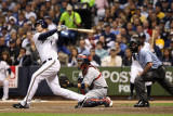 St Louis Cardinals v Milwaukee Brewers - Playoffs Game Six, Milwaukee, WI - October 16: Corey Hart Photographic Print by Christian Petersen