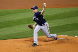 Milwaukee Brewers v St. Louis Cardinals - Playoffs Game Four, St Louis, MO - October 13: Randy Wolf Photographic Print by Dilip Vishwanat