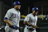 Texas Rangers v Detroit Tigers - Game Four, Detroit, MI - October 12: Nelson Cruz and Adrian Beltre Photographic Print by Harry How