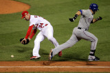 Texas Rangers v St Louis Cardinals, St Louis, MO - Oct. 27: Mitch Moreland and Marc Rzepczynski Photographic Print by Doug Pensinger