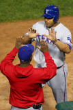 Texas Rangers v St Louis Cardinals, St Louis, MO - Oct. 27: Nelson Cruz and Esteban German Photographic Print by Dilip Vishwanat