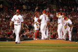 Milwaukee Brewers v St. Louis Cardinals - Playoffs Game Four, St Louis, MO - October 13: Kyle Lohse Photographic Print by Jamie Squire