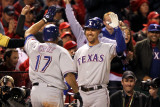 Texas Rangers v St Louis Cardinals, St Louis, MO - Oct. 27: Nelson Cruz and David Murphy Photographic Print by Jamie Squire