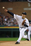 Texas Rangers v Detroit Tigers - Playoffs Game Four, Detroit, MI - October 12: Rick Porcello Photographic Print by Harry How