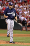Milwaukee Brewers v St. Louis Cardinals - Game Four, St Louis, MO - October 13: Francisco Rodriguez Photographic Print by Christian Petersen