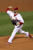 Milwaukee Brewers v St. Louis Cardinals - Game Three, St Louis, MO - October 12: Chris Carpenter Photographic Print by Jamie Squire