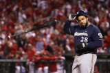 Milwaukee Brewers v St. Louis Cardinals - Game Four, St Louis, MO - October 13: Prince Fielder Photographic Print by Christian Petersen