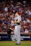 Detroit Tigers v Texas Rangers - Playoffs Game Six, Arlington, TX - October 15: Max Scherzer Photographic Print by Kevork Djansezian