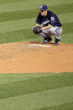 Milwaukee Brewers v St Louis Cardinals - Game Five, St Louis, MO - October 14: Zack Greinke Photographic Print by Christian Petersen