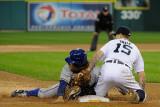 Texas Rangers v Detroit Tigers - Playoffs Game Four, Detroit, MI - October 12: Ian Kinsler Photographic Print by Kevork Djansezian