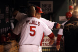 Texas Rangers v St Louis Cardinals, St Louis, MO - Oct. 27: Albert Pujols and Yadier Molina Photographic Print by Jamie Squire