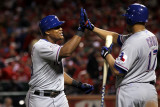 Texas Rangers v St Louis Cardinals, St Louis, MO - Oct. 27: Adrian Beltre and Nelson Cruz Photographic Print by Ezra Shaw