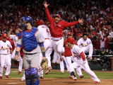2011 World Series Game 6 - Texas Rangers v St Louis Cardinals, St Louis, MO - Oct. 27: Gerald Laird Photographic Print by Ezra Shaw