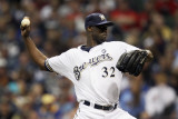 St Louis Cardinals v Milwaukee Brewers - Game Six, Milwaukee, WI - October 16: LaTroy Hawkins Photographic Print by Christian Petersen