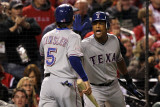 Texas Rangers v St Louis Cardinals, St Louis, MO - Oct. 27: Ian Kinsler and Adrian Beltre Photographic Print by Jamie Squire