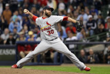 St Louis Cardinals v Milwaukee Brewers - Playoffs Game Six, Milwaukee, WI - October 16: Jason Motte Photographic Print by Christian Petersen