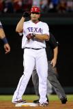 Detroit Tigers v Texas Rangers - Playoffs Game Six, Arlington, TX - October 15: Nelson Cruz Photographic Print by Kevork Djansezian
