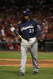 Milwaukee Brewers v St Louis Cardinals - Game Five, St Louis, MO - October 14: Rickie Weeks Photographie par Jamie Squire