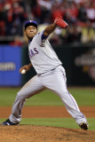 2011 World Series G. 6 - Texas Rangers v St Louis Cardinals, St Louis, MO - Oct. 27: Neftali Feliz Photographic Print by Ezra Shaw