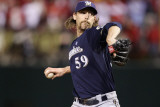 Milwaukee Brewers v St. Louis Cardinals - Game Four, St Louis, MO - October 13: John Axford Photographic Print by Christian Petersen