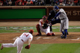 Texas Rangers v St Louis Cardinals, St Louis, MO - Oct. 27: Ian Kinsler and Jaime Garcia Photographic Print by Rob Carr