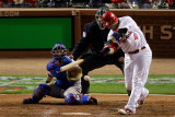 2011 World Series G. 6 - Texas Rangers v St Louis Cardinals, St Louis, MO - Oct. 27: Yadier Molina Photographic Print by  Rob Carr