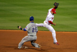 Texas Rangers v St Louis Cardinals, St Louis, MO - Oct. 27: Mike Napoli and Rafael Furcal Photographic Print by Doug Pensinger