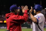 Texas Rangers v St Louis Cardinals, St Louis, MO - Oct. 27: Nelson Cruz and Esteban German Photographic Print by Ezra Shaw