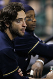 Milwaukee Brewers v Cardinals - G. Five, St Louis, MO - Oct. 14: Ryan Braun and Rickie Weeks Photographie par Jamie Squire