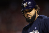 Milwaukee Brewers v St Louis Cardinals - Game Five, St Louis, MO - October 14: Prince Fielder Photographic Print by Jamie Squire